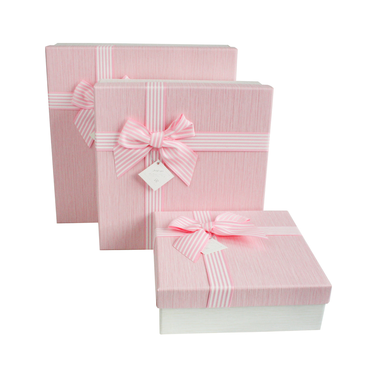 Square Cream / Baby Pink Gift Box -Set of 3