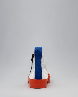 CANVAS HIGH FULL CAP <br />White/Utility Orange/OBRA Blue