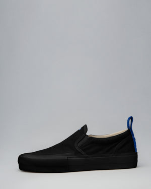 CANVAS SLIP-ON WRAP TOE </br>Black/Black/OBRA Blue