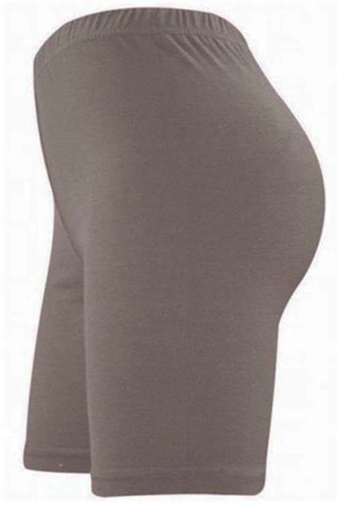 Lianne High Waist Basic Jersey Cycling Shorts - bejealous-com