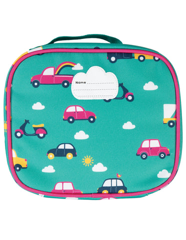 Frugi Pack A Snack Lunch Bag - Aqua Rainbow Roads