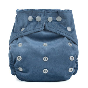 Baba & Boo One Size Minky Nappy - Grey - Tilly & Jasper