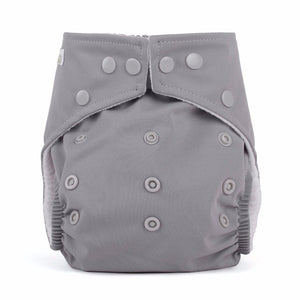 Baba & Boo One Size Nappy - Grey - Tilly & Jasper