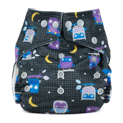 Baba & Boo One Size Nappy - Night Owls - Tilly & Jasper