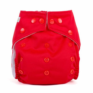 Baba & Boo One Size Nappy - Red - Tilly & Jasper