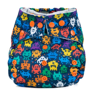 Baba & Boo One Size Nappy - Retro Arcade - Tilly & Jasper