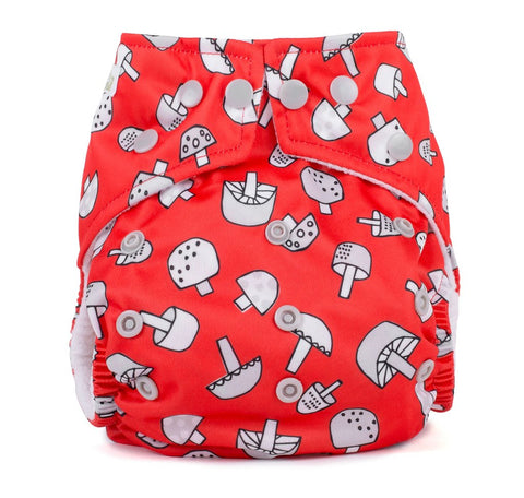 Baba & Boo One Size Nappy - Toadstools - Tilly & Jasper