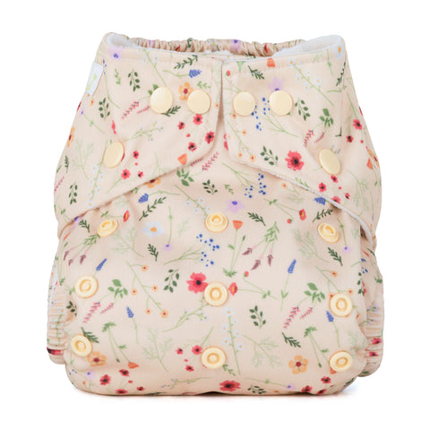 Baba & Boo One Size Nappy - Wildflowers - Tilly & Jasper