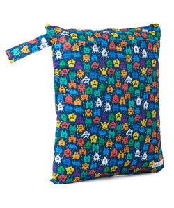 Baba & Boo Retro Arcade Double Zip Reusable Nappy Storage Bag (Medium) - Tilly & Jasper