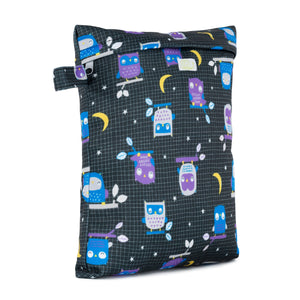 Baba & Boo Night Owls Reusable Nappy Storage Bag (Small) - Tilly & Jasper