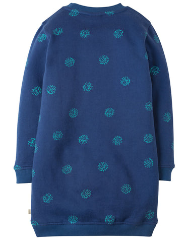 Frugi Eloise Jumper Dress - True Blue Snowball/Penguin - Tilly & Jasper