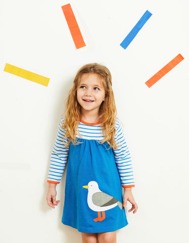 Toby Tiger Organic Seagull Applique Dress