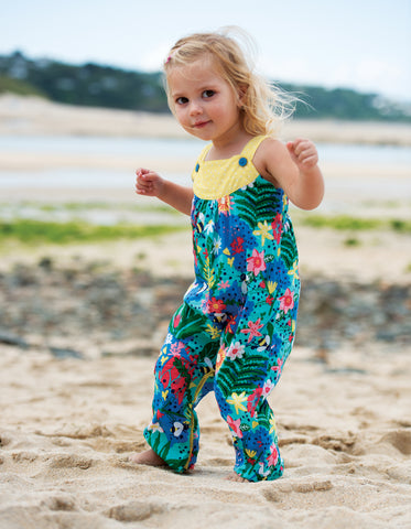Image of Frugi Springtime Dungaree -  Hothouse Floral - Tilly & Jasper