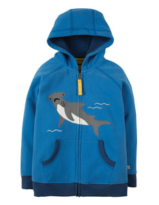 Frugi Lucas Zip Up Hoody - Sail Blue / Shark - Tilly & Jasper