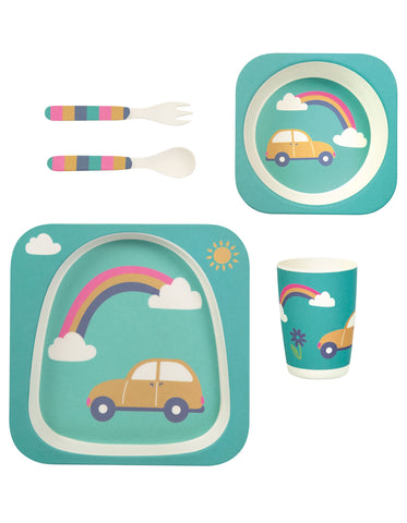 Frugi Bamboo Dinner Set - Rainbow - Tilly & Jasper