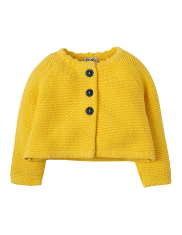 Frugi Carrie Knitted Cardigan - Sunshine - Tilly & Jasper