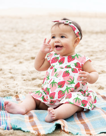 Frugi Pretty Polly Dress Set - Scilly Strawberries