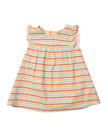 LGR Frill Dress - Sunset Stripe