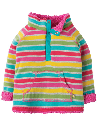 Frugi Little Snuggle Fleece - Rainbow Marl Breton - Tilly & Jasper