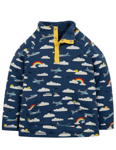 Frugi Snuggle Fleece - Marine Blue Fly Away - Tilly & Jasper