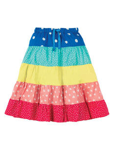 Frugi Dorothy Twirly Skirt - Rainbow Hotchpotch - Tilly & Jasper