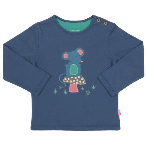Image of Kite Mousey Mushroom T-shirt - Tilly & Jasper