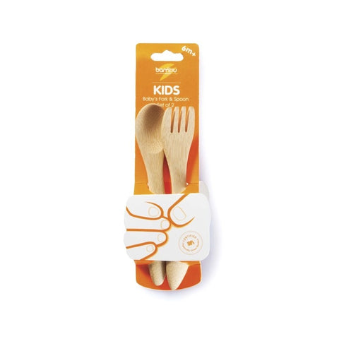Image of Bamboo Baby Fork & Spoon - Tilly & Jasper