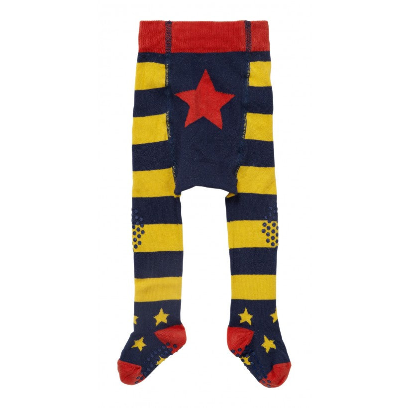 Piccalilly Crawler Tights - Blue & Yellow