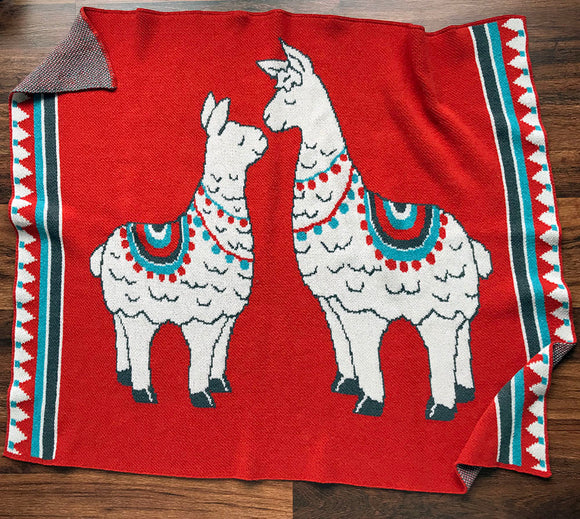 Eco-tot Blanket: Llama (Last chance, Only one left!)
