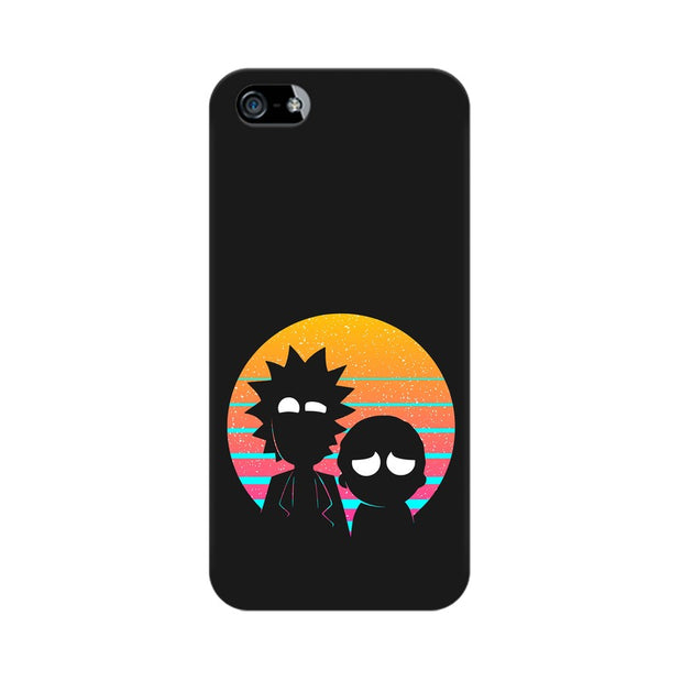Apple iPhone 5s Rick & Morty Outline Minimal Phone Cover & Case