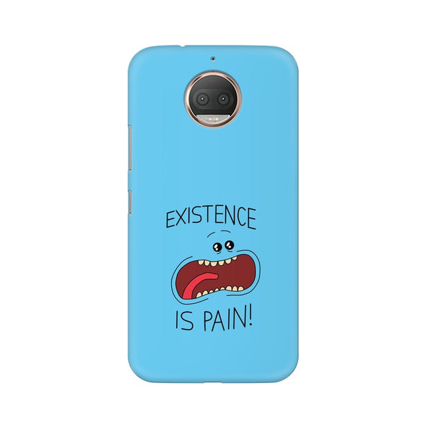 Moto E4 Plus Existence Is Pain Mr Meeseeks Rick & Morty Phone Cover & Case