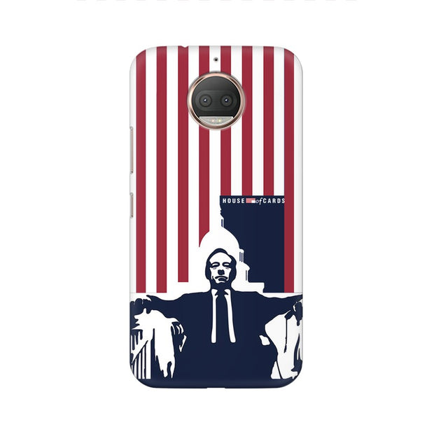 Moto E4 Plus House Of Cards Underwood On Chair Phone Cover & Case