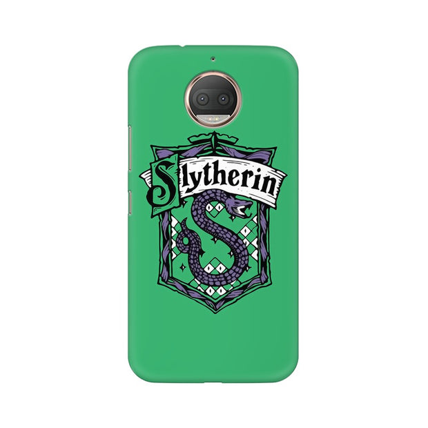 Moto E4 Plus Slytherin House Crest Harry Potter Phone Cover & Case