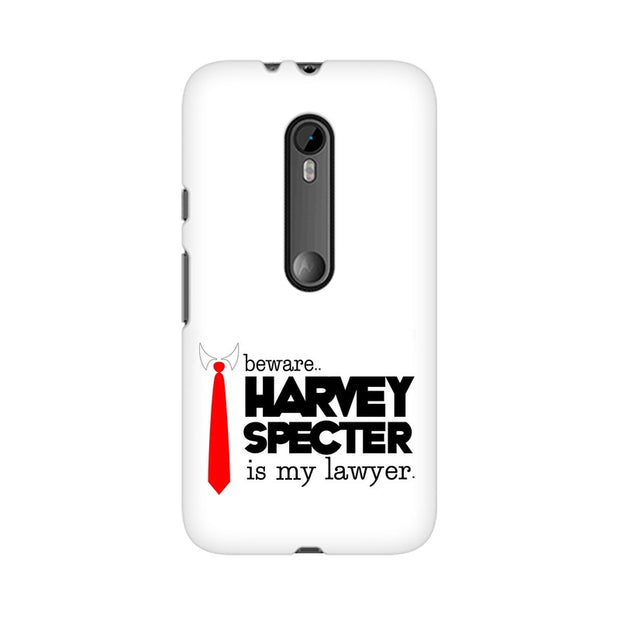 Moto G3 Harvey Spectre Is My Lawyer Suits Phone Cover & Case