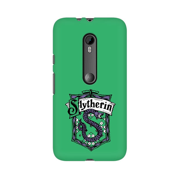 Moto G3 Slytherin House Crest Harry Potter Phone Cover & Case