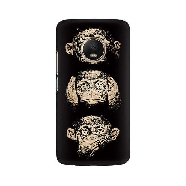 Moto G5 Plus Three Wise Monkeys Phone Cover & Case