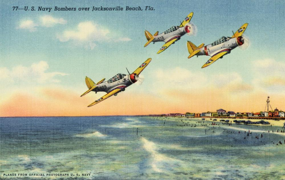 Navy Bombers over Jacksonville Military Wall Mural