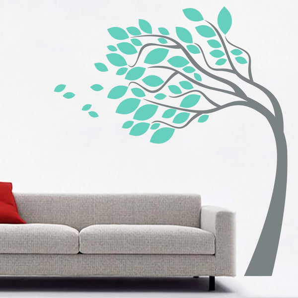 Leaning Tree in The Wind - Wall Decals Stickers - Wall-Decals - Decall.ca