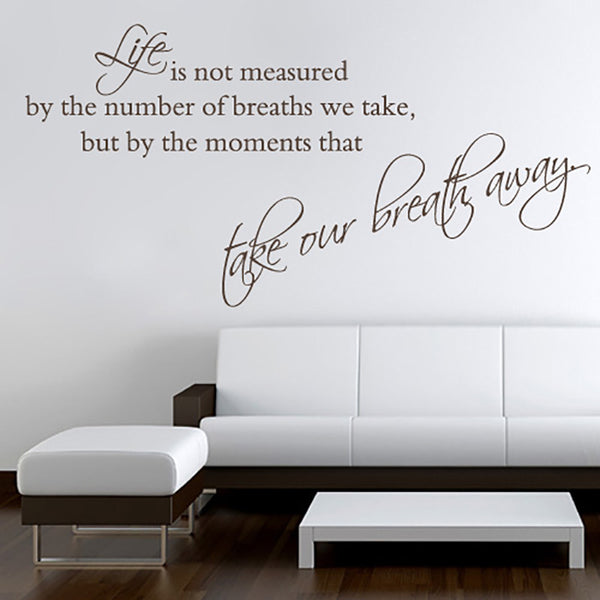 Take Our Breath Away - Wall Lettering - Wall-Decals - Decall.ca