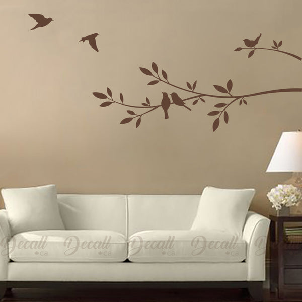 Tree Branch and Birds - Vinyl Decal - Wall-Decals - Decall.ca