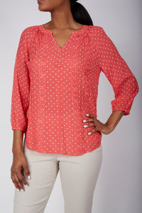 Dotted Loose Blouse