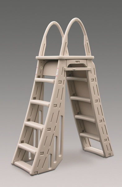 Confer Roll Guard A-Frame Above-Ground Pool Safety Ladder