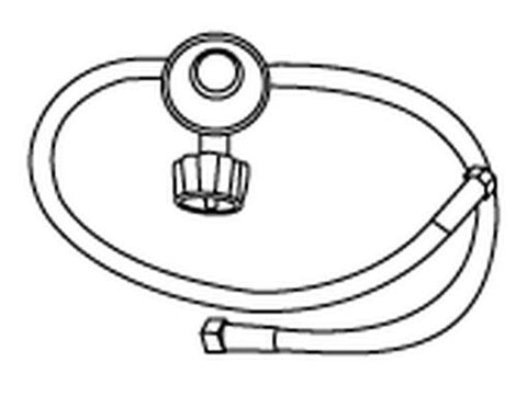 Music City Metals Lp Regulator With Two Hoses For Side Burner Applications 80034