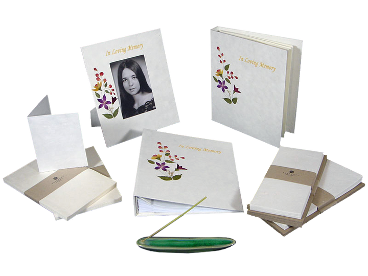Memorial stationery set includes everything needed for a funeral chapel, church or home memorial service.