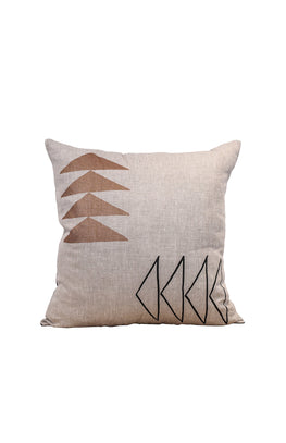 Ishkoday Pillow △ Natural/Black