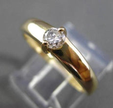 ESTATE .20CT SOLITAIRE DIAMOND 14K YELLOW GOLD PROMISE ENGAGEMENT RING #19059