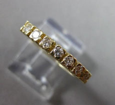 ESTATE .30CT DIAMOND 14KT YELLOW GOLD 7 STONE PRONG ANNIVERSARY RING 2mm #6431