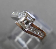 ESTATE .80CT MULTI SHAPE DIAMOND 14KT WHITE GOLD INFINITY ENGAGEMENT RING #23994