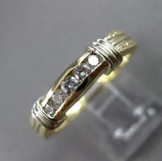 ESTATE .30CT DIAMOND 14KT TWO TONE GOLD 5 STONE FILIGREE ANNIVERSARY RING #5481