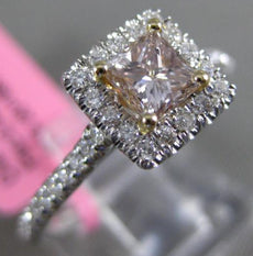 ESTATE .80CT WHITE & CHOCOLATE FANCY DIAMOND 18KT 2 TONE GOLD 3D ENGAGEMENT RING